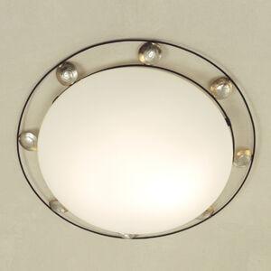 J. Holländer Stropné svetlo Fraterna s kovovou dekoráciou