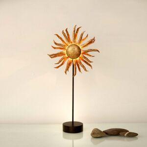 J. Holländer Stolná LED lampa Slnko zlatá