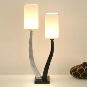 J. Holländer Stolná lampa Quadrangolare 2pl. strieborná/čierna