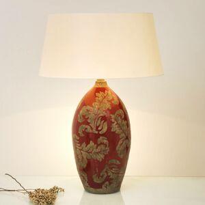 J. Holländer Stolná lampa Toulouse okrúhla výška 65cm, červená