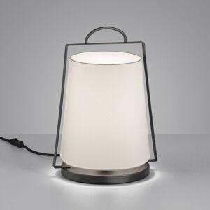 Helestra Helestra Uka stolná lampa látkové tienidlo biela