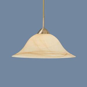 Hufnagel Prirodzene tónovaná závesná lampa Luisa, mosadz