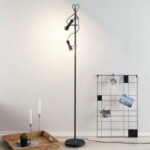 Hight Light B.V. Stojaca LED lampa Move dvoj-plameňová čierna