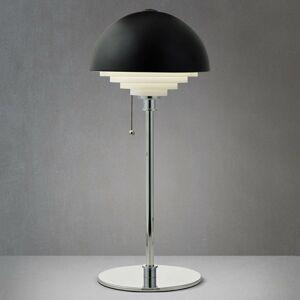 Herstal Čierna stolná lampa Motown s rastrom