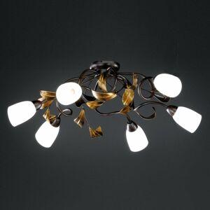 FISCHER & HONSEL Zakrivené stropné svietidlo Supra 6-plameňové
