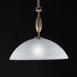 FISCHER & HONSEL Sklenená závesná lampa Pastille starožitná mosadz