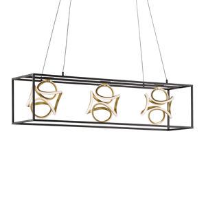 FISCHER & HONSEL Závesné LED Gesa s kovovou klietkou troj-plameňové