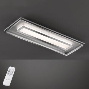 FISCHER & HONSEL Stropné LED svietidlo Bug obdĺžnik 120x40cm, chróm