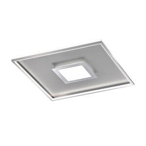 FISCHER & HONSEL LED stropná lampa Zoe, štvorcová, chrómová 60x60cm
