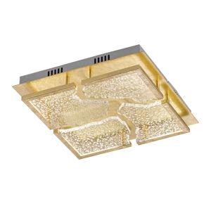 FISCHER & HONSEL Stropné LED svietidlo Elay vzhľad lístkového zlata