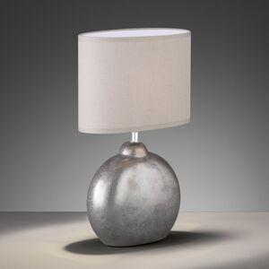 FISCHER & HONSEL Stolná lampa Lino prírodná keramický podstavec 39