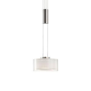 FISCHER & HONSEL LED závesná lampa Lavin, 1-pl., nikel/biela