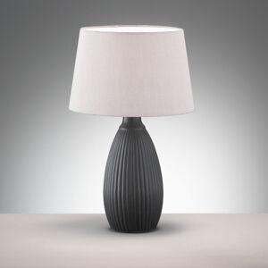 FISCHER & HONSEL Stolná lampa Ames tienidlo látka keramická