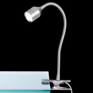 FISCHER & HONSEL Upínacia LED lampa Lovi s káblovým vypínačom nikel