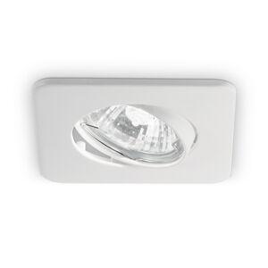Ideallux Stropné zapustené svietidlo Lounge štvorcové biele