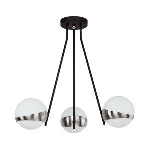 EULUNA Závesná lampa Parcel, 3-plameňová, biela/striebro