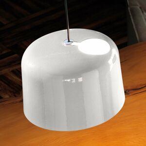 Karboxx Lesklá biela keramická závesná lampa Add