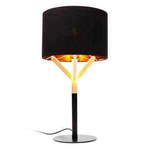 KARE KARE Scandi stolná lampa s dreveným detailom