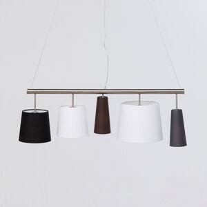 KARE KARE Parecchi Silber závesná lampa, čierna/biela