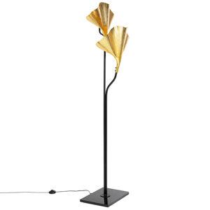 KARE KARE Gingko Due stojaca lampa, zlaté lístky