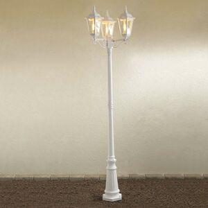 Konstmide Stĺpové svietidlo Firenze, 3-plameňové biele
