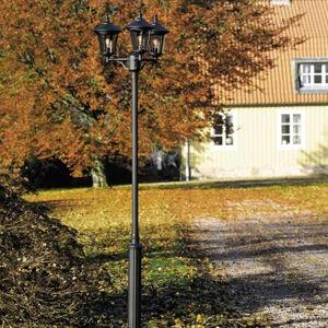 Konstmide Stĺpové svietidlo Virgo, 3-pl. čierne matné