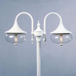 Konstmide Stĺpové svietidlo Libra, 2-plameňové, biele