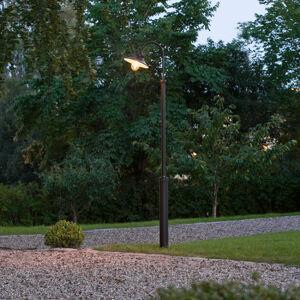 Konstmide Stĺpové svietidlo Vega, čierne, 1-pl., 240cm
