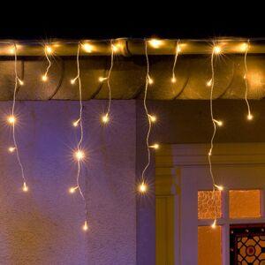 Konstmide CHRISTMAS LED svetelný záves Ľadový dážď, teplá biela 5 m
