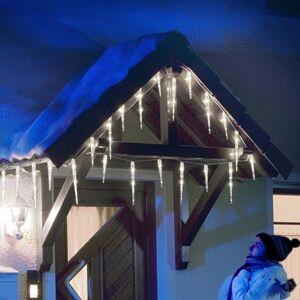 Konstmide CHRISTMAS Svetelný záves LED cencúľ s 32 kužeľmi 7,75 m