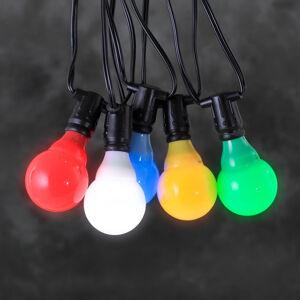 Konstmide CHRISTMAS 24V Reťaz do pivnej záhrady LED E10 viacfarebná