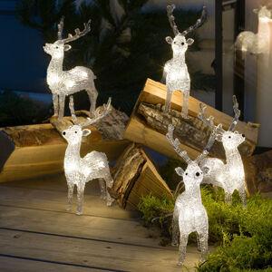 Konstmide CHRISTMAS LED svetelné figúrky sobi, sada 5 kusov