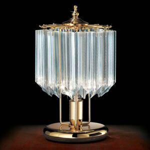 PATRIZIA VOLPATO Stolná lampa Cristalli, 24 karátov pozlátená