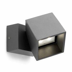 LEDS-C4 Antracitové vonkajšie nástenné LED svietidlo Cubus