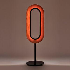 LZF LamPS LZF Lens Oval stolná LED lampa, čierna slonovina