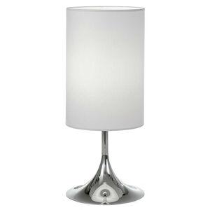 Lam Stolná lampa Flute 55cm biela chróm