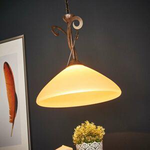 Lam Závesná lampa Luca vidiecky štýl, 1-plameňové