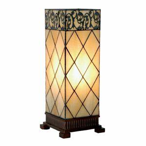 Clayre & Eef Stolná lampa Diamond v štýle Tiffany 45cm
