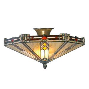 Clayre & Eef Moderné stropné svietidlo Madison v štýle Tiffany