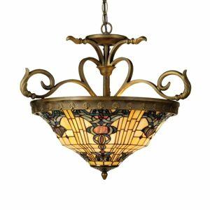 Clayre & Eef Štýl Tiffany – závesná lampa Anthia 2