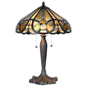 Clayre & Eef Stolná lampa 5299 podľa Tiffany 2 šnúrové vypínače
