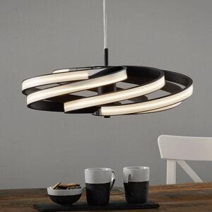 Lis Poland Dekoračné závesné LED svietidlo Zoya, čierne