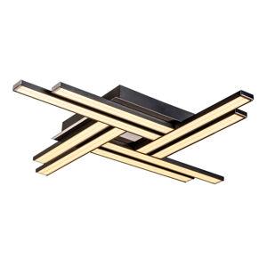 Lis Poland Stropné LED svietidlo Largo, osem-plameňové čierne