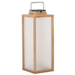 LES JARDINS Solárna LED lucerna Tradition teakové drevo 65cm