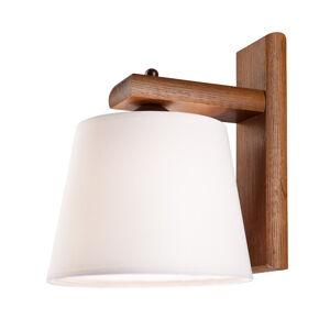 EULUNA Nástenné svietidlo Sweden drevený rám, orech dub