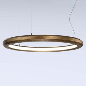 Marchetti Závesné LED svietidlo Materica vnútri 90cm mosadz