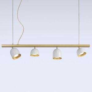 Marchetti Závesné LED svietidlo Dome štvor-plameňové biele
