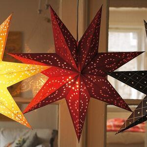 Markslöjd Hviezda Aratorp 45cm v červenej