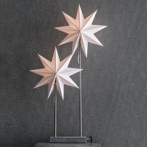 Markslöjd Stolná lampa Papierová hviezda Duva s 2 hviezdami