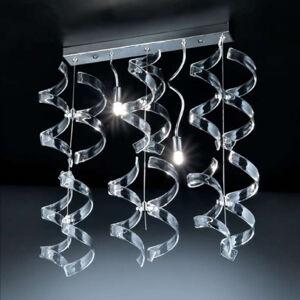 Mettallux Závesná lampa Crystal, 2-plameňová